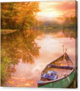 Waiting For The Dawn In Peach Canvas Print