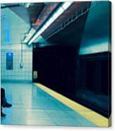 Waiting For The Train Canvas Print