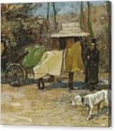 Waiting In A Car Park  Willem De Zwart  1872   1931 Canvas Print