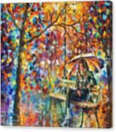 Waiting In The Rain Canvas Print