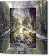Waiting In The Snow Canvas Print