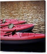 Waiting Kayaks Canvas Print