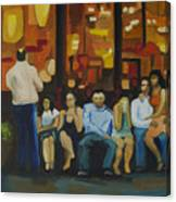 Waiting On A Taxi Canvas Print