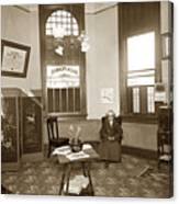 Waiting Room Of Dr. C. H. Pearce, D.d.s. Dentist, Watsonville,  Canvas Print