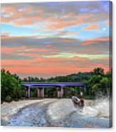 Wake Jumper  Canvas Print