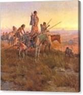 Wake Of The Buffalo Runners Canvas Print