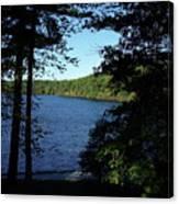 Walden Pond End Of Summer Canvas Print