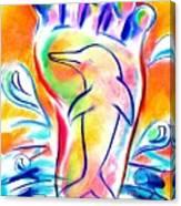 Walk Free As A Dolphin Canvas Print