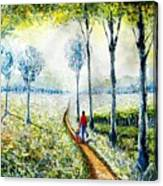Walk Into The World Canvas Print