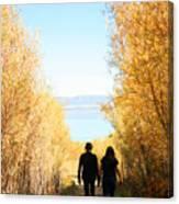 Walk To Mono Lake Canvas Print