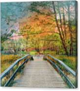 Walk To The Lake In Watercolors Canvas Print