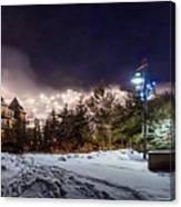 Walk To The Ski Hills Canvas Print
