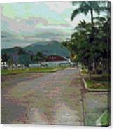 Walk Way Canvas Print