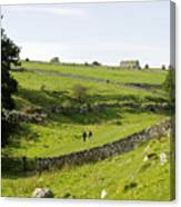 Walkers At Lathkill Dale Canvas Print