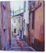 Walking Around Menton France Canvas Print