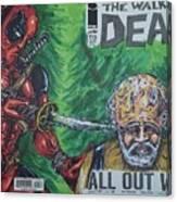 Walking Dead Deadpool Mash-up  Canvas Print