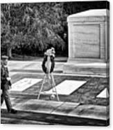 Walking His Post Canvas Print
