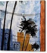 Walking Home, Watercolor Canvas Print