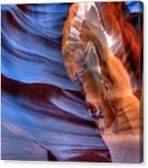 Walking In Antelope Canyon Canvas Print