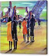 Walking In Paris Canvas Print