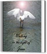 Walking In The Light Of Jesus Canvas Print