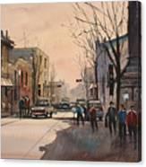 Walking In The Shadows - Fond Du Lac Canvas Print
