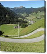 Walking Near Niederdorf In The Dolomites Canvas Print
