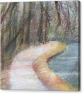 Walking The C And O Canal Canvas Print