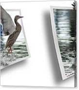 Walking On Water - Gently Cross Your Eyes And Focus On The Middle Image Canvas Print