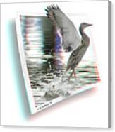 Walking On Water - Use Red-cyan 3d Glasses Canvas Print