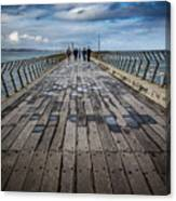 Walking The Pier Canvas Print
