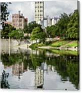 Walking The San Antonio River Canvas Print