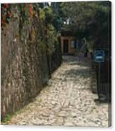 Walking The Streets Of Santa Lucia - 2 Canvas Print