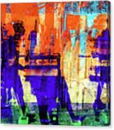 Walking Through The City Canvas Print