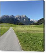 Walking To Niederdorf In The Dolomites Canvas Print