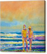 Walking Together Canvas Print