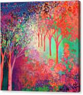 Walking Toward The Light Canvas Print