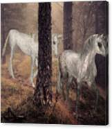 Walking Unicorns Canvas Print