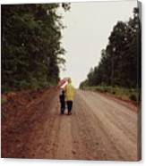 Walking Up North With Grandma Canvas Print