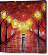 Walking With My Love Canvas Print