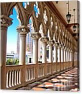 Walkway At The Venetian Hotel Canvas Print