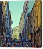 Walkway Over The Street - Lisbon Canvas Print