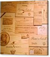 Wall Decorated With Used Wine Crates Canvas Print