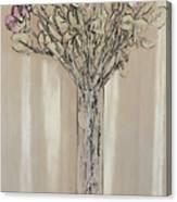 Wall Flower Decoration Canvas Print