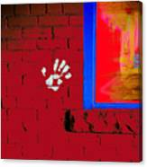 Wall Hand Face Canvas Print