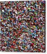 Wall Of Chewing Gum Seattle Canvas Print
