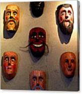 Wall Of Masks 2 Canvas Print