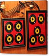 Wall Of Records Canvas Print