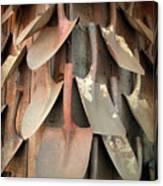 Wall Of Shovels Canvas Print