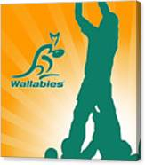 Wallabies Rugby Canvas Print